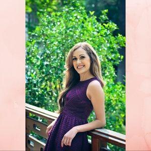 Purple Waffle Dress